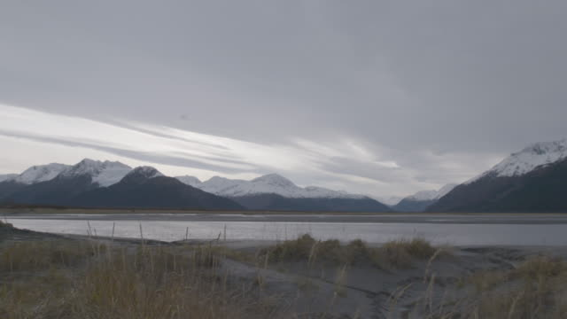 stockvideo's en b-roll-footage met pan left shot of a mountain landscape in the arctic national wildlife refuge - arctic national wildlife refuge