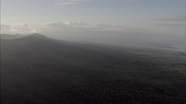 Pan left to huge volcanic crater Available in HD.
