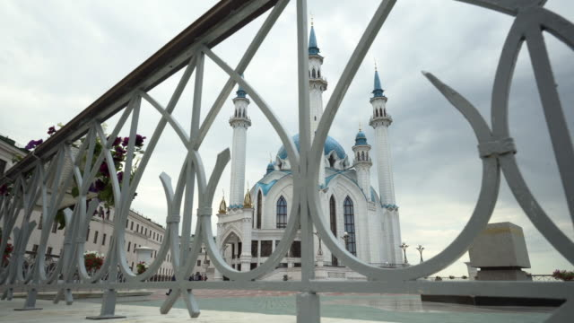 pan left to right: majestic kul sharif mosque showing its magnificence  - kazan, russia - kazan russia stock videos and b-roll footage