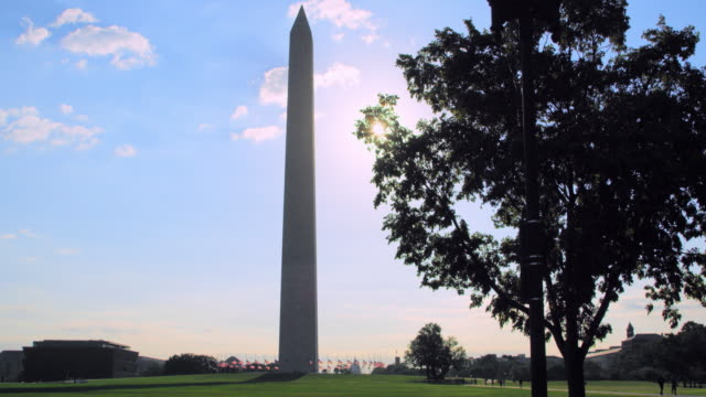 Pan Left to Right: Washington Monument Standing (Shot on RED)