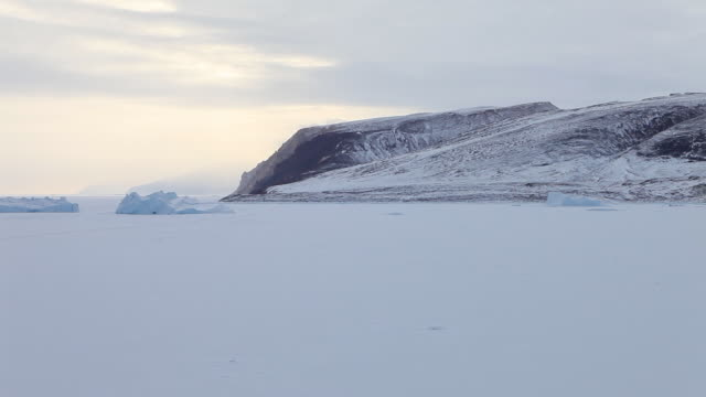 pan left, vast greenland tundra - wide stock videos & royalty-free footage