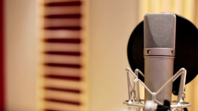pan microphone in music studio - recording studio stock videos & royalty-free footage