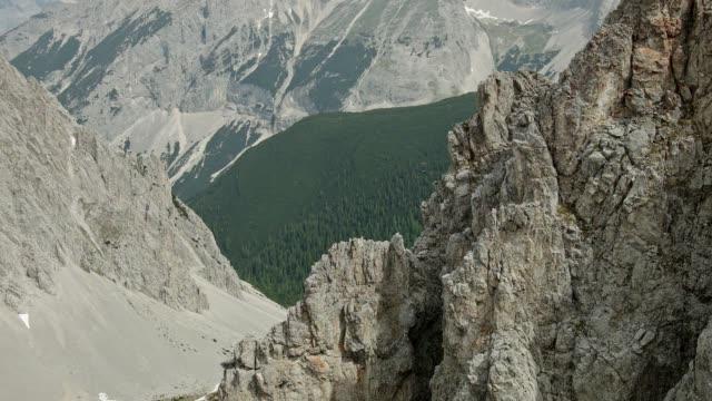 pan: nordkette and karwendel mountain range - karwendel mountains stock videos and b-roll footage