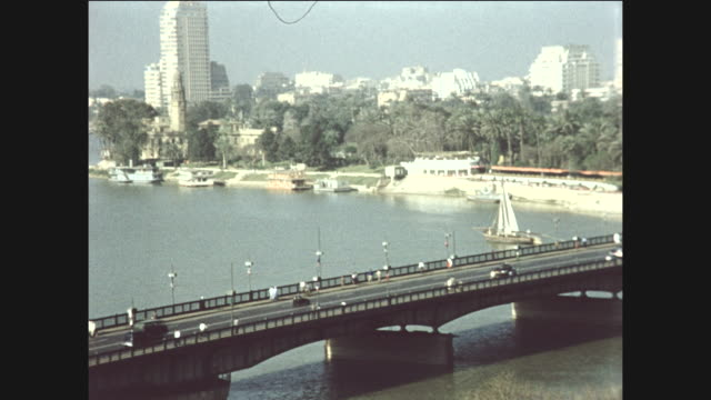 pan of cairo. - 1961 stock-videos und b-roll-filmmaterial