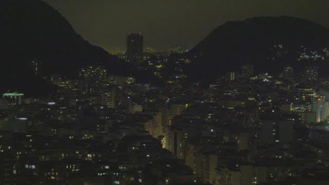 vídeos de stock, filmes e b-roll de pan of downtown rio de janeiro, brazil - panning