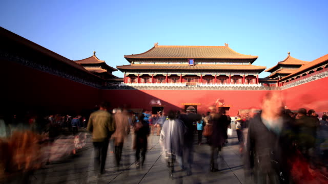 t/l pan of forbidden city, beijing, china - forbidden city stock videos & royalty-free footage