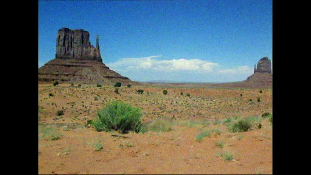 pan of monument valley and mittens buttes; 1972 - 1972 stock videos & royalty-free footage