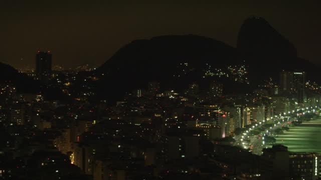 vídeos de stock, filmes e b-roll de pan of rio de janeiro urbanscape in brazil - panning