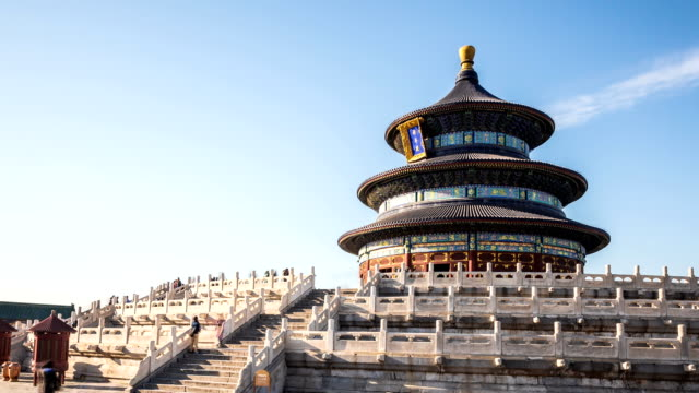 t/l pan of temple of heaven in beijing, china. - temple of heaven stock videos & royalty-free footage