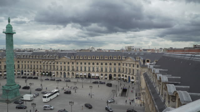 stockvideo's en b-roll-footage met pan on place vendome - colonne vendome