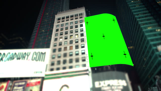 pan over green screen chroma key new york city - billboard stock videos & royalty-free footage