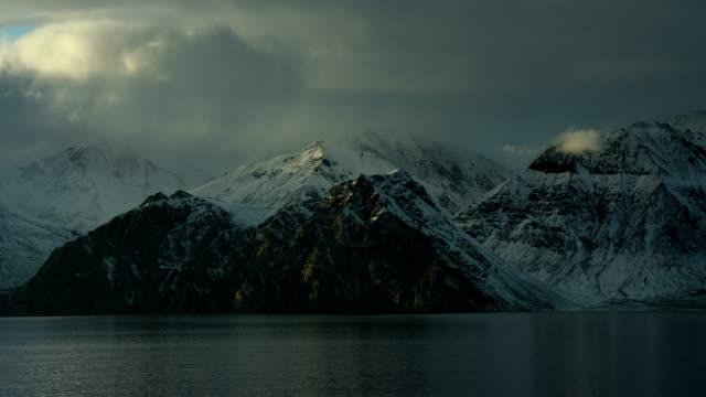 Pan Over Scenic Arctic Coastline