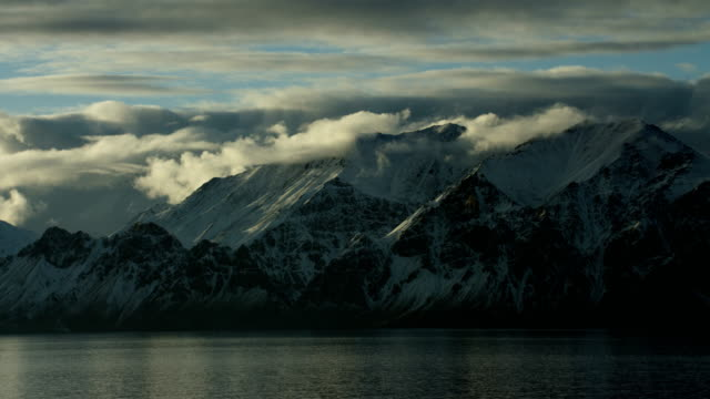 Pan Over Scenic Arctic Mountains