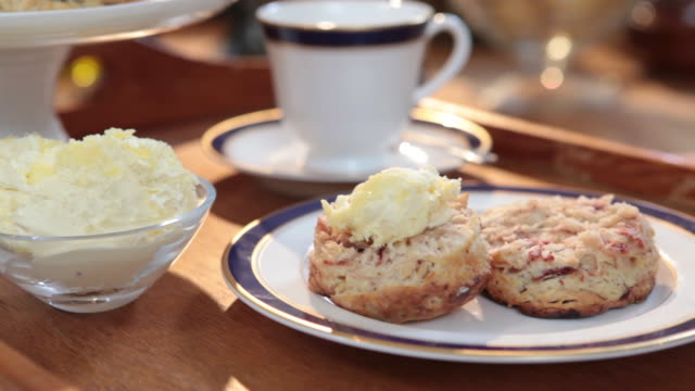 Pan over scones and tea.