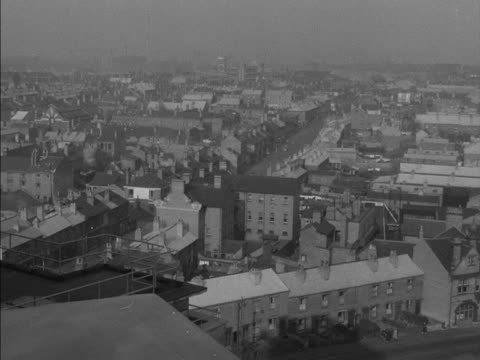 pan over the rooftops of birmingham - birmingham england stock videos & royalty-free footage