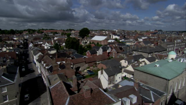 pan over the rooftops of bury st edmunds. available in hd. - bury st edmunds stock videos & royalty-free footage