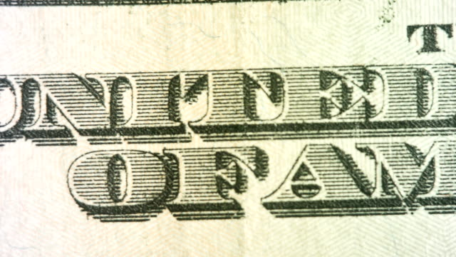 pan past the words united states of america on the $20 bill - twenty us dollar note stock videos & royalty-free footage