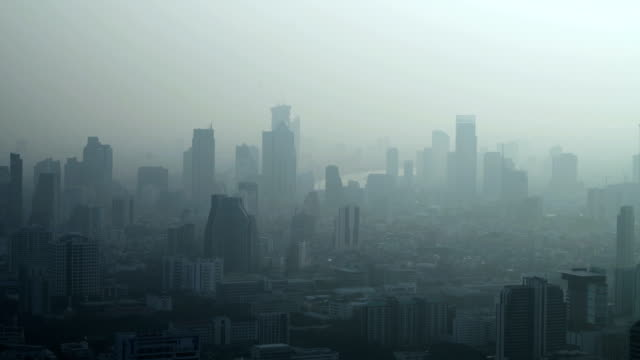 pan real time cityscape of bangkok, thailand. - telephoto lens stock videos and b-roll footage