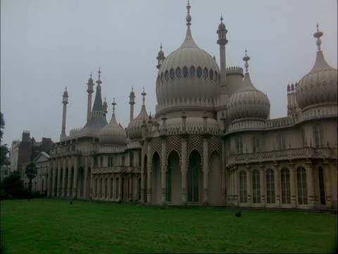 wa pan right across brighton pavilion, united kingdom - brighton england stock videos & royalty-free footage