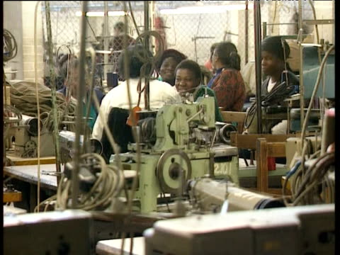 pan right across empty factory as unemployment rises in zimbabwe 1990s - unemployment stock videos and b-roll footage