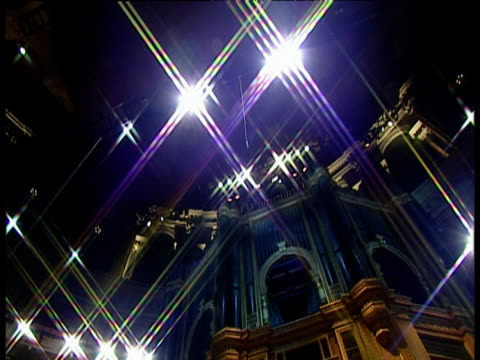 pan right across facade of royal albert hall organ - royal albert hall stock videos and b-roll footage
