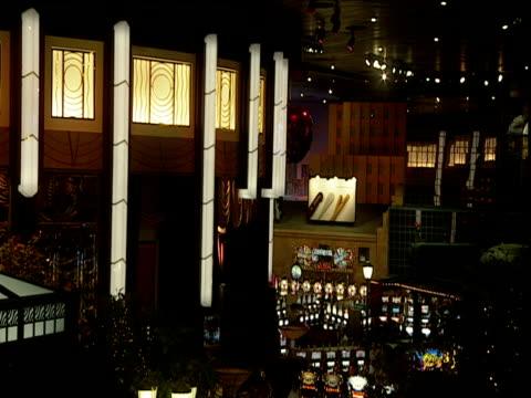 pan right across slot machines in casino las vegas - casino stock videos & royalty-free footage