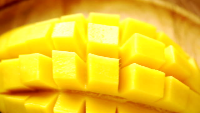 ecu pan right camera : tropical fruit with sweet mango served in a basket. - ripe stock videos & royalty-free footage