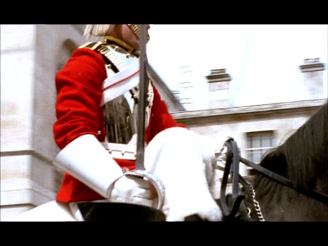 cu pan right, changing of the guard, buckingham palace, london, england - british culture stock videos & royalty-free footage