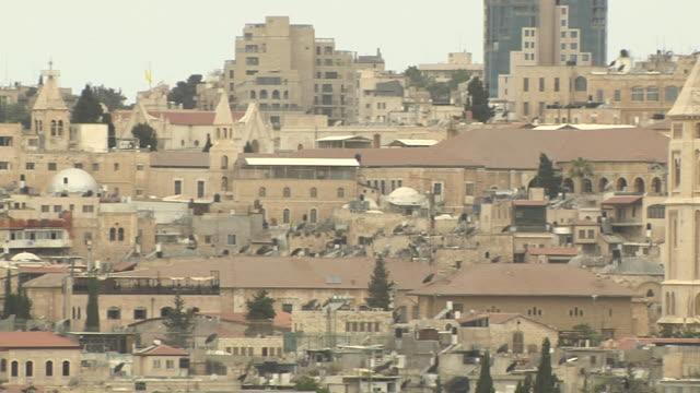 Pan right city Jerusalem Israel