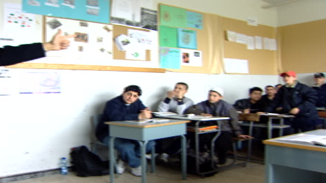 pan right from druze sheikh lecturing students on civic rights. irfan is a druze religious school with five branches across lebanon that operate as... - theology stock videos & royalty-free footage