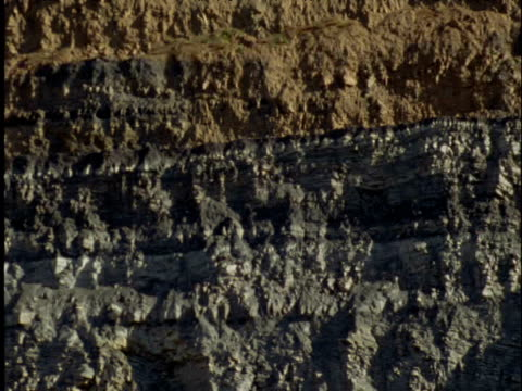 pan right over coal seam in coal mine - bedclothes stock videos & royalty-free footage