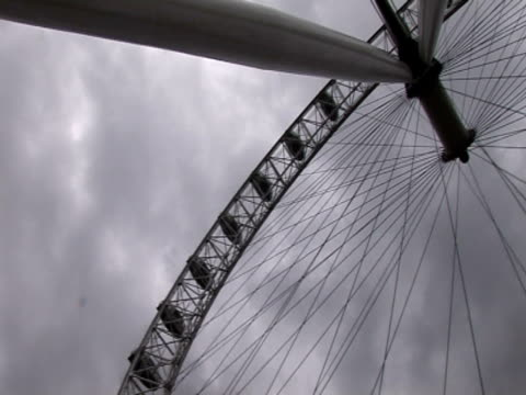 pan right over london eye - ランベス点の映像素材/bロール