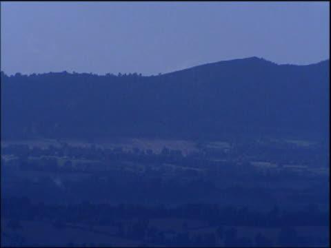 pan right over malvern hills - hügelkette stock-videos und b-roll-filmmaterial