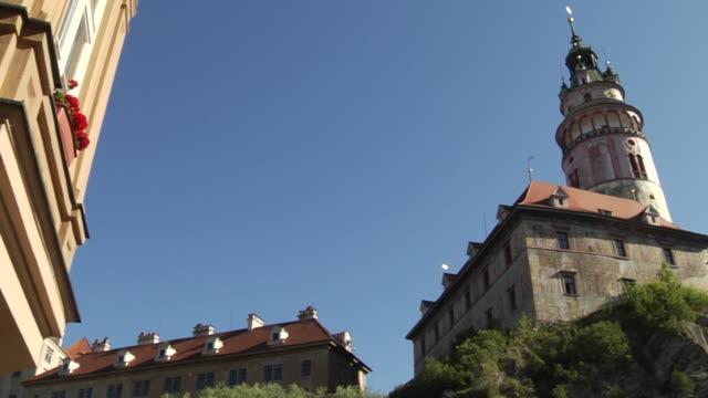 Pan Right Shot  Cesky Krumlov Castle Cesky Krumlov Bohemia Czech Republic