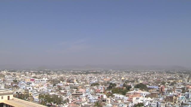 Pan Right Shot City Udaipur Rajasthan India