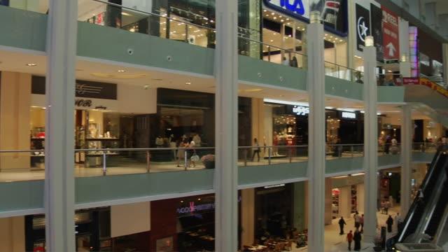 Pan Right Shot Interior Dubai Mall United Arab Emirates