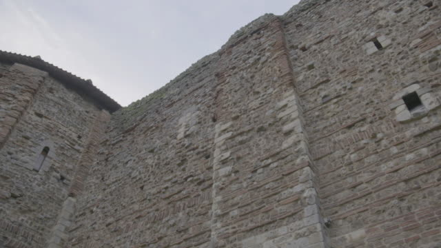 pan right shot of the east front of the colchester castle - circa 12th century stock videos & royalty-free footage