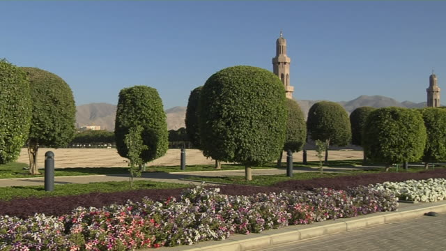 Pan Right Shot Qaboos Mosque Muscat Oman