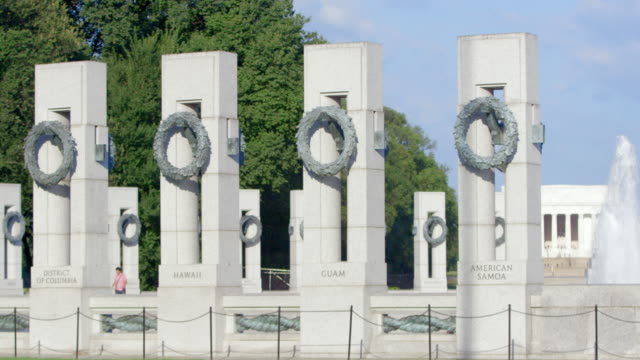 pan right to left: pillars of the pacific pavilion (shot on red) - monument stock videos & royalty-free footage