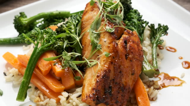 pan seared salmon - salmon stock videos & royalty-free footage