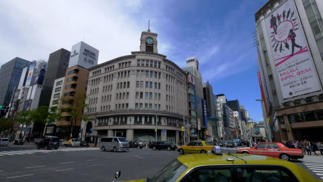 pan shot ginza crossing - ginza stock videos & royalty-free footage
