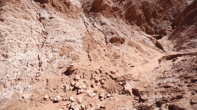 pan shot of a desert mountain in cordillera domeyko, chile - geology stock videos & royalty-free footage