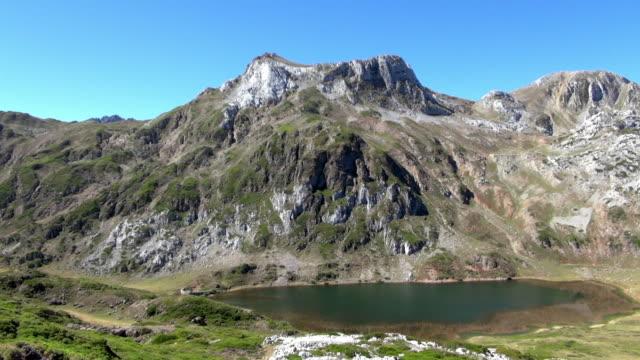 Pan Shot of Massive Mountain Terrain in Somiedo