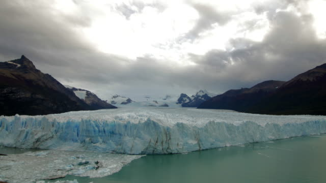 Pan shot of the glacier in Argentina