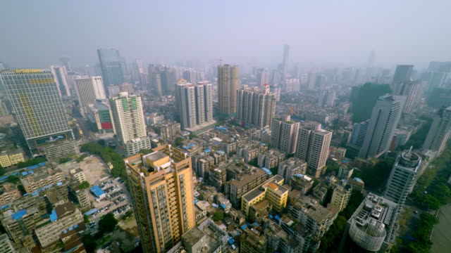 360° pan shot over guangzhou skyline at pearl river - spoonfilm stock-videos und b-roll-filmmaterial
