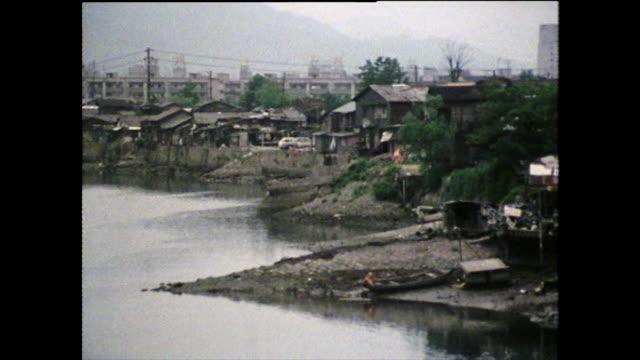 pan slum for outcast hiroshima bomb survivors; 1975 - exclusive stock videos & royalty-free footage