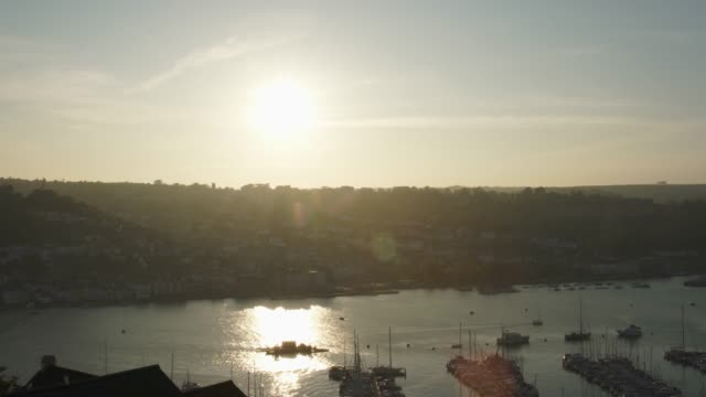 Pan - Sunset over Dartmouth Harbour, seen from Kingswear