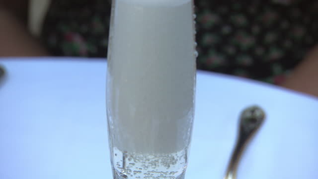 pan up a glass of champagne. - carbonated stock videos & royalty-free footage