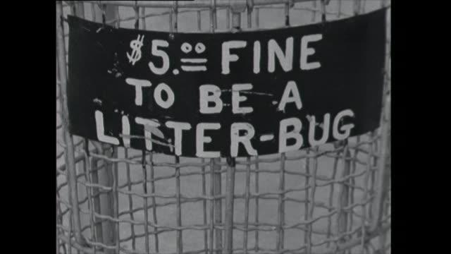 pan up public rubbish bin - 1961 stock videos & royalty-free footage