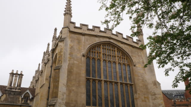 pan up the exterior of trinity college chapel, cambridge. - trinity college cambridge university stock videos & royalty-free footage
